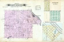 Saint Augusta Township, St. Cloud, Luxemburg, Mississippi River, Stearns County 1896 published by C.M. Foote & Co
